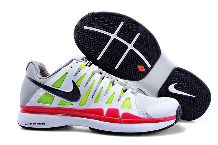 new concept a48cd b1a52 Roger Federer Shoes Nike Zoom Vapor 9 Tour Pro Platinum Black Cool Grey  Action Red 488000 001