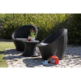 Create A Comfortable, Cultural Hub To Your Outdoor Area With Our Dark And  Delicious 2 Seater Egg Rattan Effect Patio Furniture Set. Perfectly Sized  For Your ...