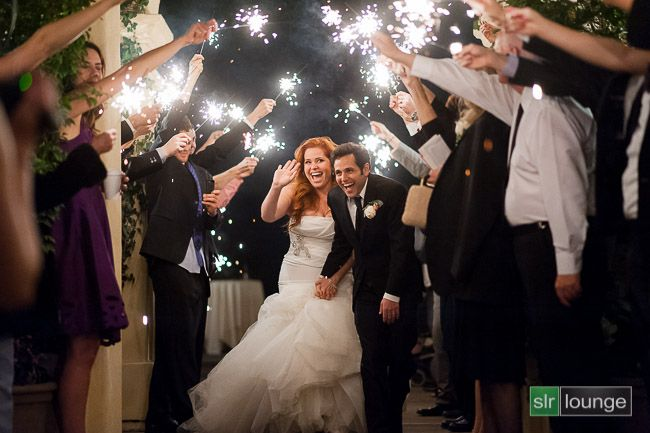 Camera Settings For Wedding Photography Nikon: Sparkler Wedding Exit Photo - How We Shot It