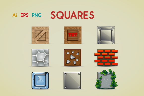 Check out Squares by yurakr on Creative Market