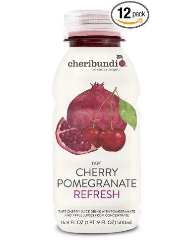Cheribundi Tart Cherry Juices, Pomegranate Refresh, 16.9 Ounce (Pack of 12): Amazon.com: Grocery & Gourmet Food
