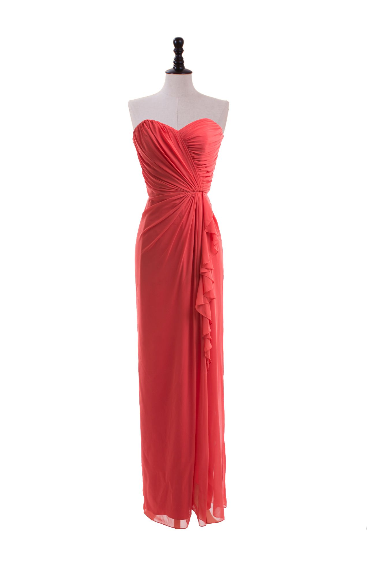 Sweetheart dress with bias side ruffle skirt i want it in black
