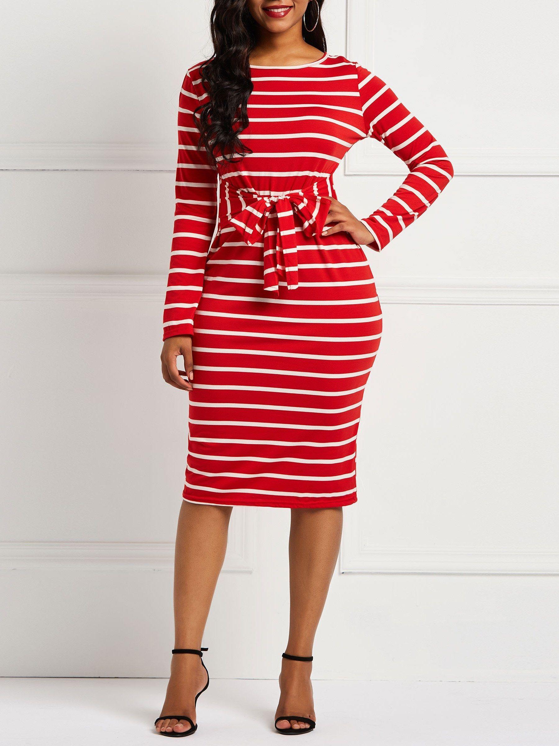 Long Sleeve Stripe Fall Women S Bodycon Dress Women Bodycon Dress Bodycon Dress Striped Bodycon Dress [ 2400 x 1800 Pixel ]