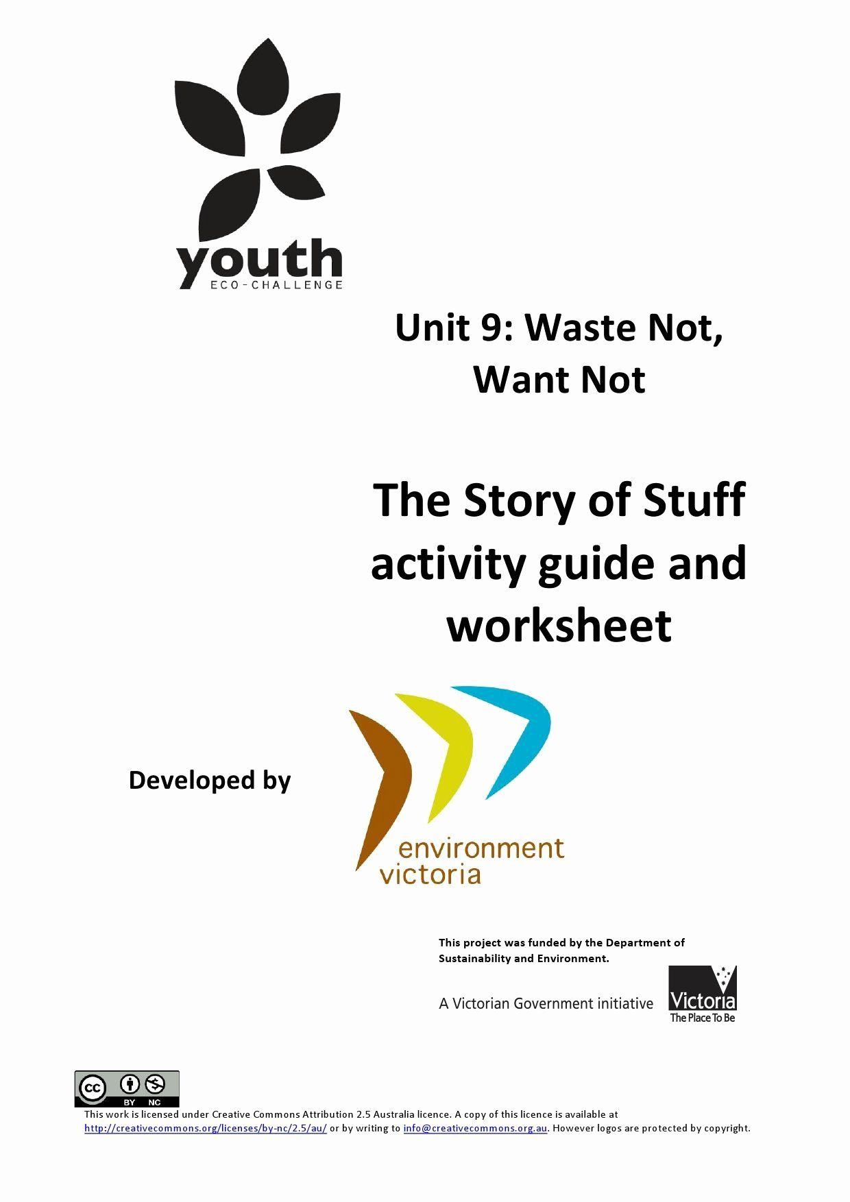 The Story Of Stuff Worksheet Best Of Vcal Unit 9 Story Of
