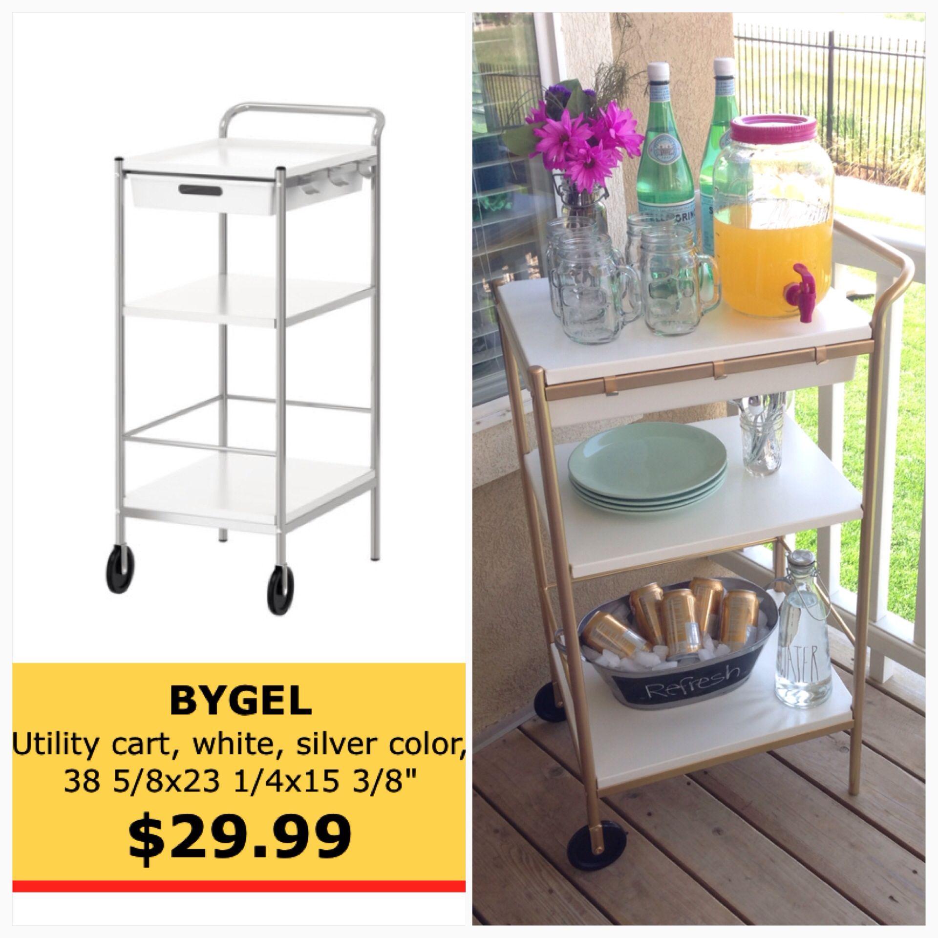 Ikea Hack  Bygel Utility Cart Into A Tea Cart