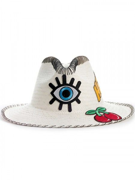 Sara Designs  Panama Patch Hat Eye   2e23b572a33