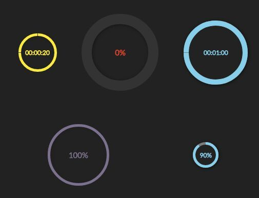 Circular Progress Bar And Countdown Timer With jQuery