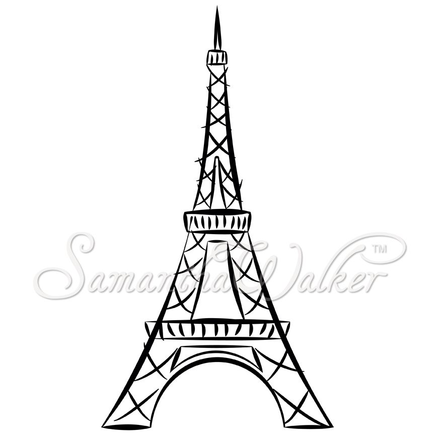 Easy eiffel tower drawing these die cuts will make great for Wall drawings simple
