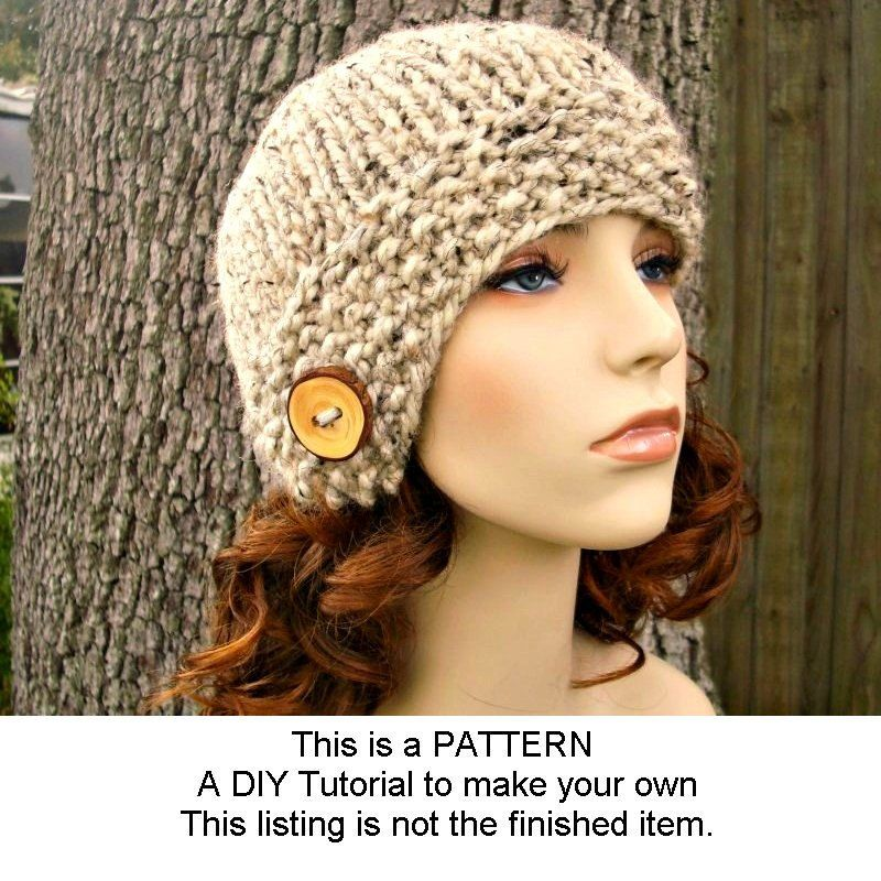 Instant Download Knitting Pattern Womens Hat Pattern Knit ...