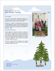 Family Holiday Newsletter Download At HttpWwwTemplateinnCom