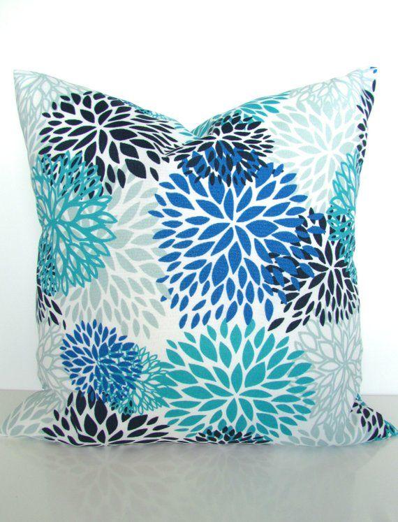 Royal Blue Pillows Outdoor Pillow Covers Turquoise Throw Navy Aqua Gray Ou