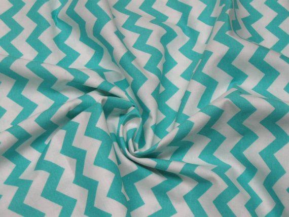 Fabric Bolt (10 Yards) Aqua Chevron Fabric-----Fabric By The Yard---- Georgia Fabrics