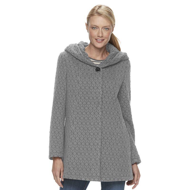 b993fca1dd2 Gallery Women s Hooded Textured Fleece Jacket