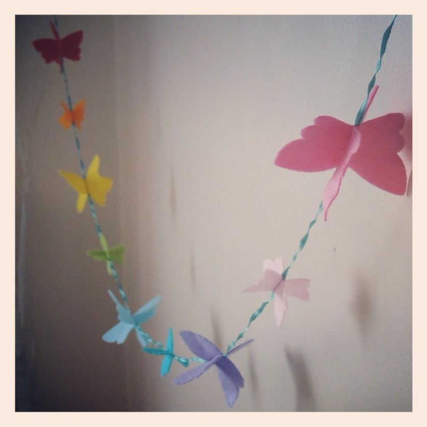 Butterfly garland from Bee Creative Crafts