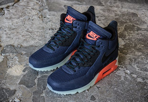 Nike Air Max 90 Sneakerboot Ice Midnight Navy Bright