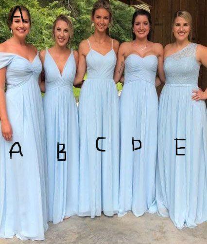 5 Styles Mismatch Long Bridesmaid Dresses from dressydances