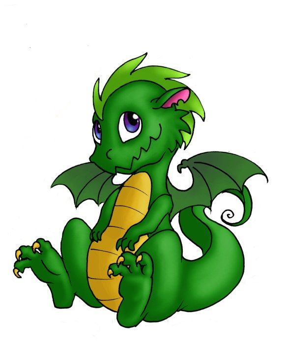 Image result for cute green dragon