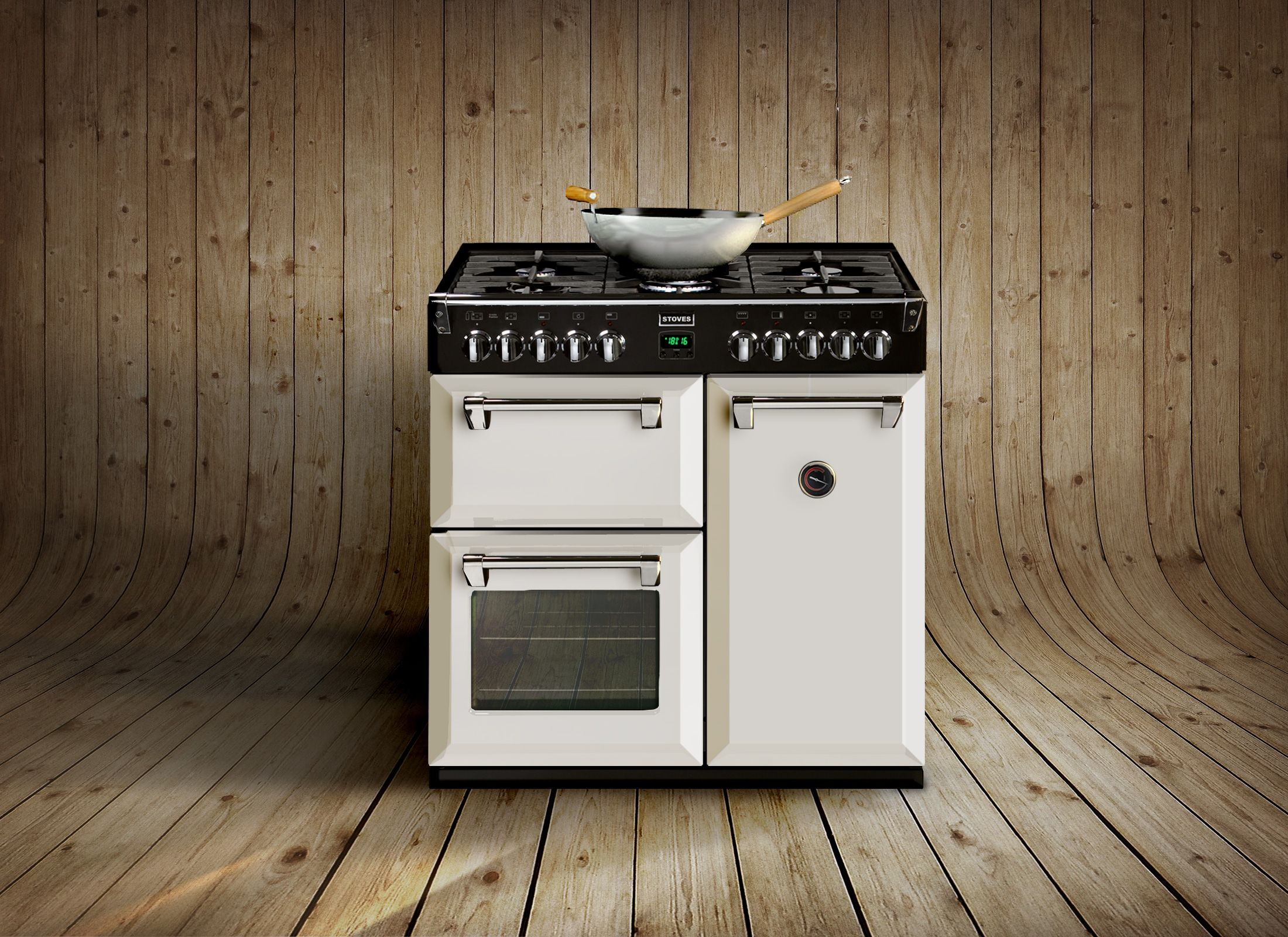 stoves richmond 900dft colour boutique in icy brook white and