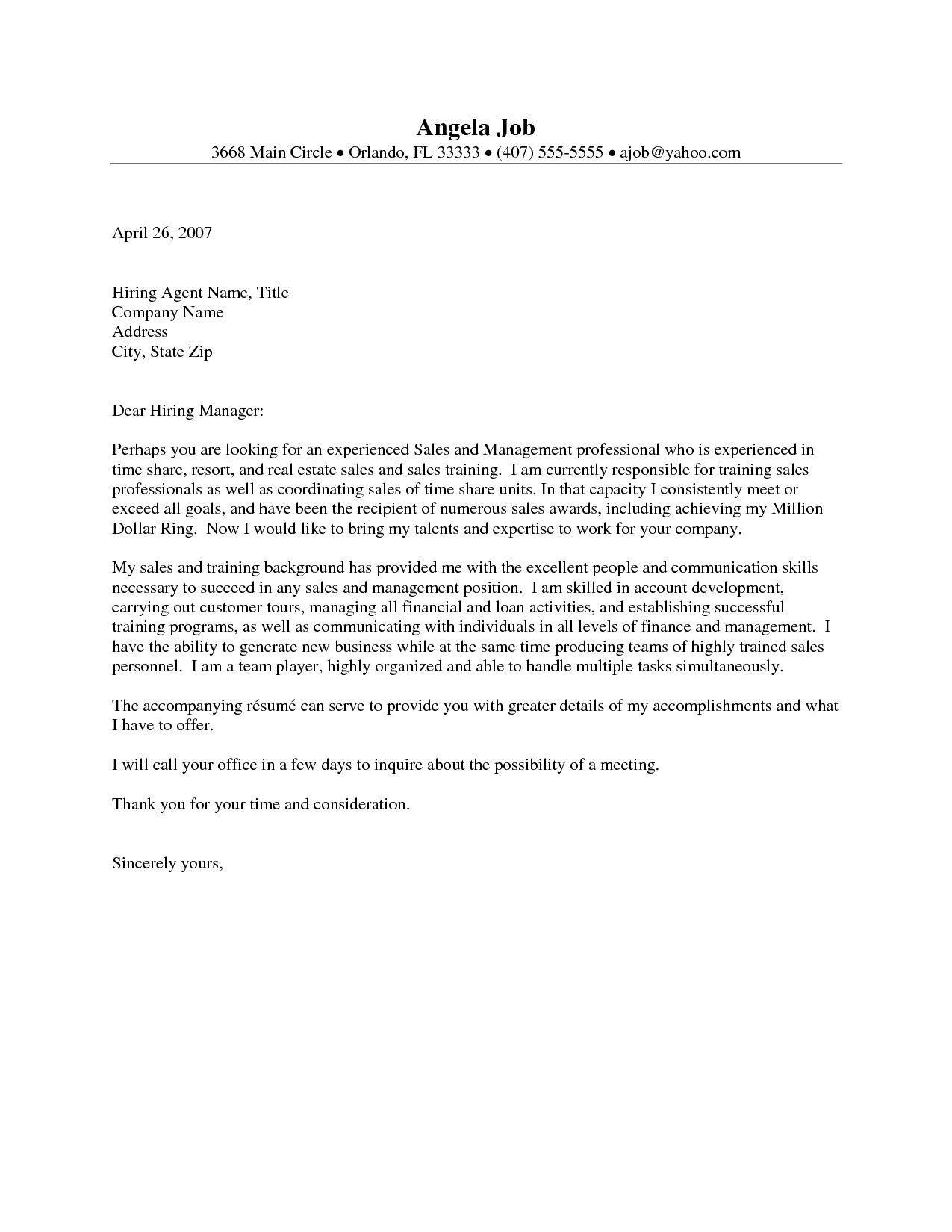 Valid Business Letter Format For Real Estate