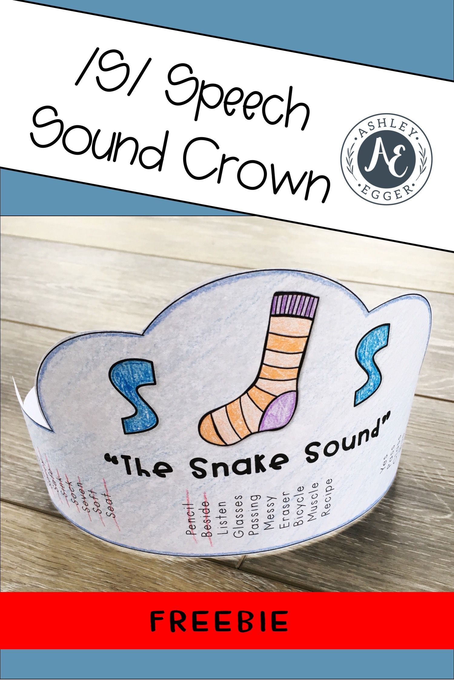 Speech Sound S Crown Freebie With Images