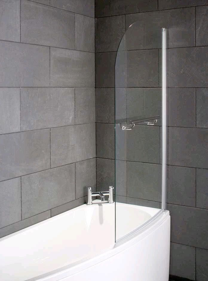 Compact 1700 X 700 Space Saver Bath Left Hand Bath Screens Shower Doors Space Saver Bath