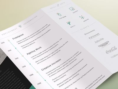 2014 CV Resume TriFold Design, Of and Types of