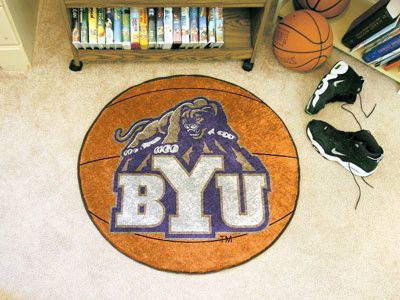 Ncaa Brigham Young University Basketball 27 In X 27 In Non Slip Indoor Only Mat University Of Tennessee Basketball Basketball Floor Virginia Tech Basketball