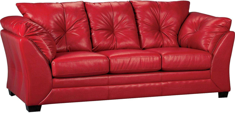 Faux Leather Sofa