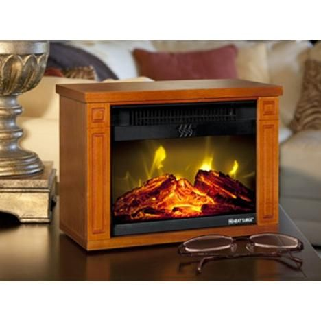 Heat Surge Heat Surge Mini Glo Infrared Led Fireplace 1200 Watt For Medium Sized Room 30000488 Fireplace Heater Amish Fireplace Amish Crafts