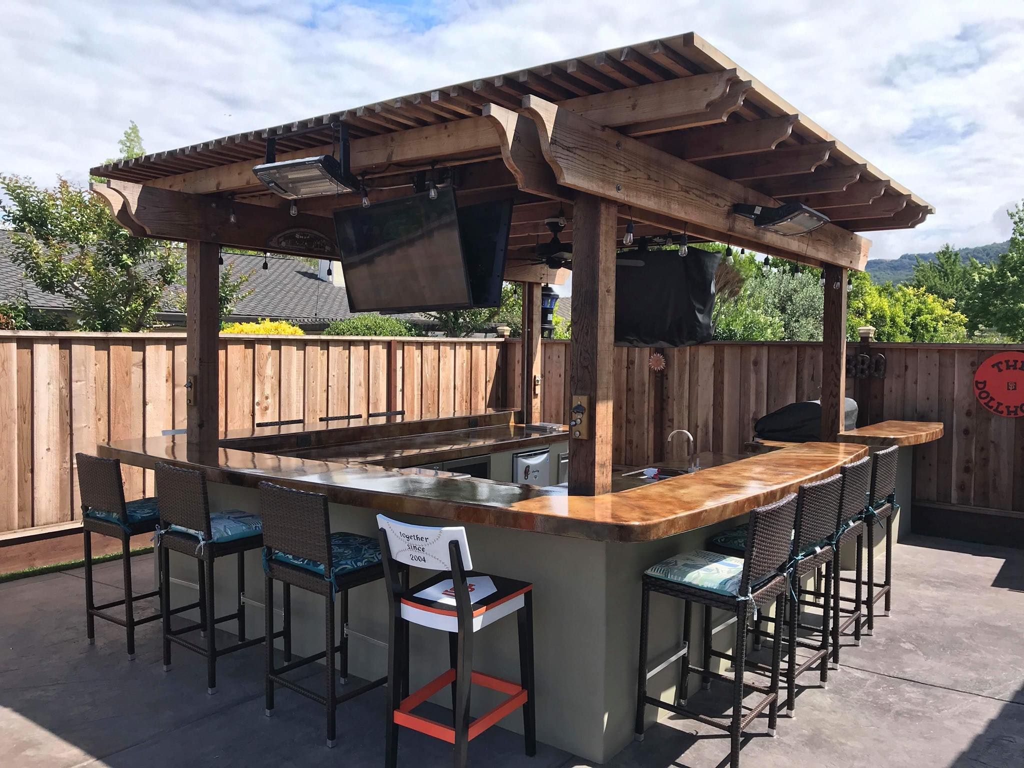 Polyurethane Concrete Sealer En 2020 Patio De Restaurante Bar