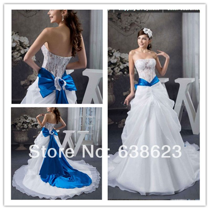 Daw793 Free Shipping White And Royal Blue Lace Wedding Dress Pattern In Dubai Us 189 00 Blue Wedding Dress Royal Blue Wedding Dresses Blue Lace Wedding Dress
