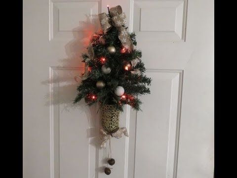 Tricia S Creations Dollar Tree Mini Christmas Tree Wall