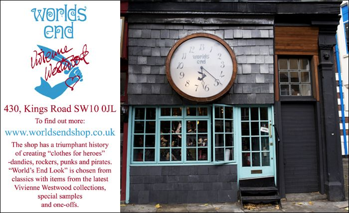 The Worlds End Store. by Vivienne Westwood. I need to VISIT THIS PLACE!!!