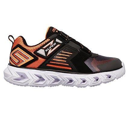 d634173d0a55c Skechers Kids' Hypnoflash 2.0 Rapid Quake Sneaker Pre/Grade School Shoes ( Charcoal/Orange)