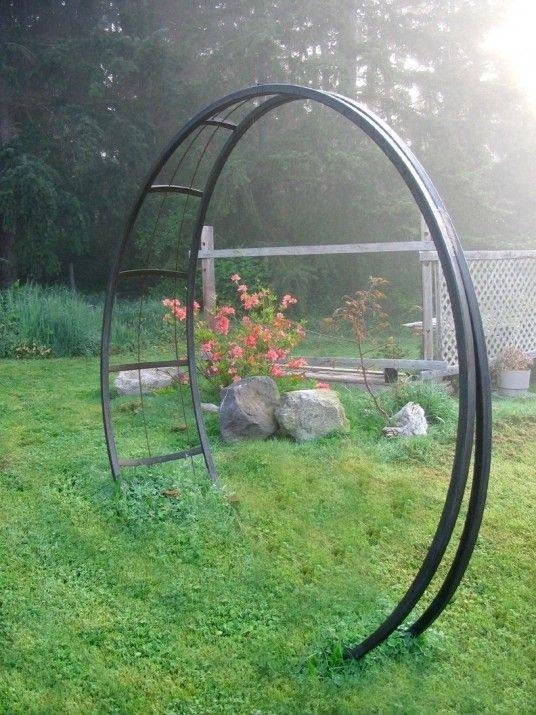 Rosenbogen Modern metal obelisk trellis foter garden rosenbogen