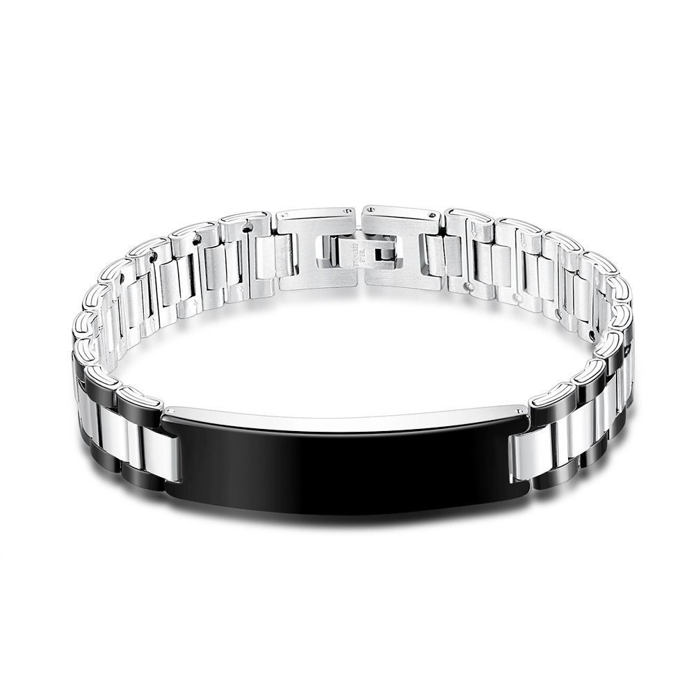 New punk stainless steel bracelet men jewelry friendship male