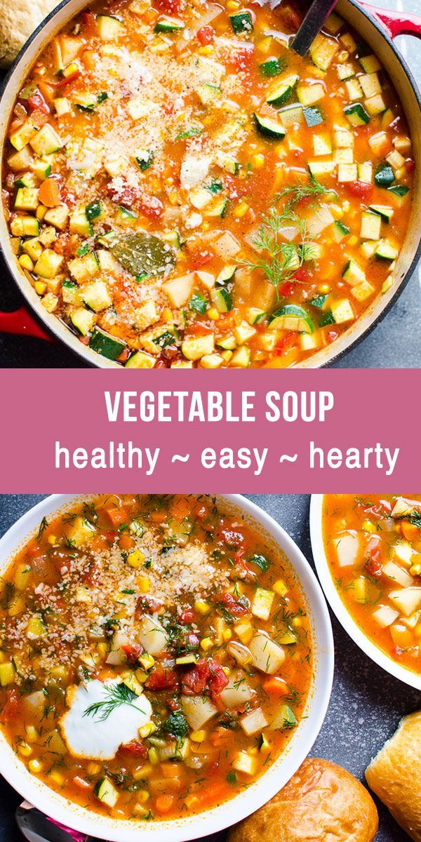 BEST EVER Vegetable Soup - iFOODreal