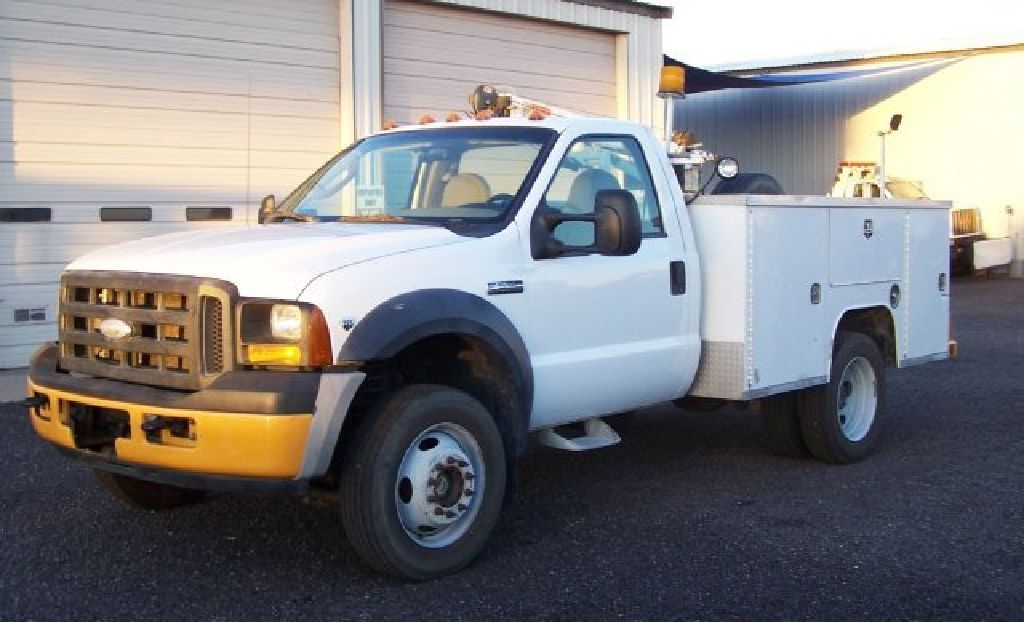 2007 Ford F 550 4x4 Utility Bed With Crane Utility Bed 4x4
