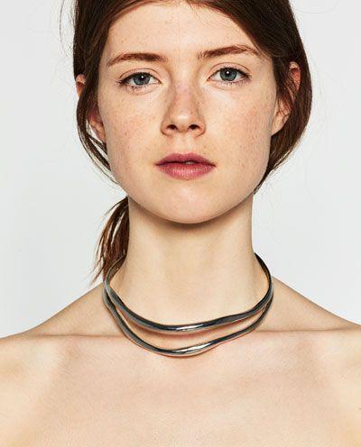 DOUBLE CHOKER NECKLACE from Zara
