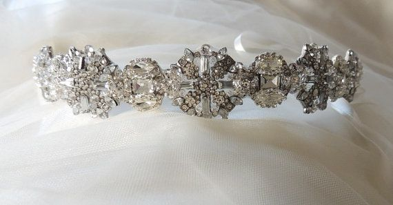 Ada Wedding bridal headpiece crystal headband by Tatishotties