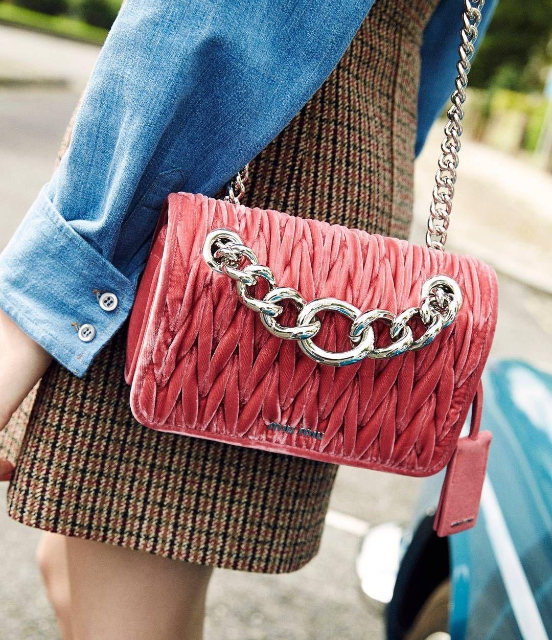 Velvet Miu Miu Club shoulder bag with matelassé workmanship ( link in bio   ilariaorsini) 7df0fb1be3c6d