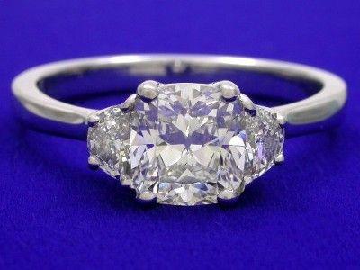 Diamond Ring With 1 06 Carat Cushion Brilliant Diamond