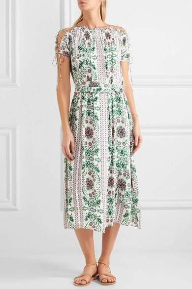 Printed midi dress Tory Burch Cheap Real Eastbay 0IHwdCR8