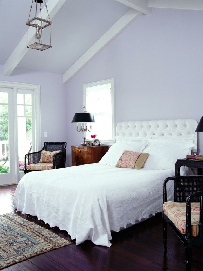Die Farbe Lila Lavendel Wandfarbe Schlafzimmer