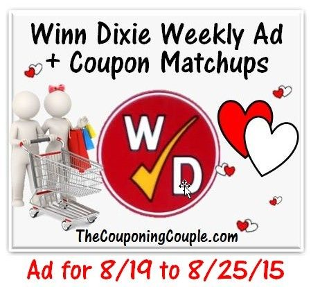 Here is the NEW Winn-Dixie Ad for 8-19 to 8-25-15 with Coupon Matchups.   Click the link below to get all of the details ► http://www.thecouponingcouple.com/winn-dixie-ad-for-8-19-to-8-25-15-coupon-matchups/  #Coupons #Couponing #CouponCommunity  Visit us at http://www.thecouponingcouple.com for more great posts!