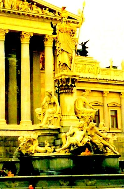 State of Athena in front of Parliament - Vienna - Austria