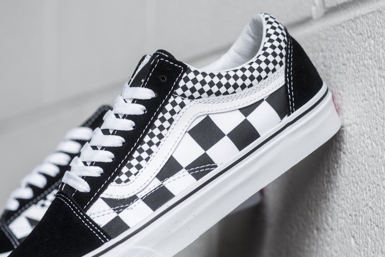 6a1761643 Vans Old Skool (Mix Checker) - Black White