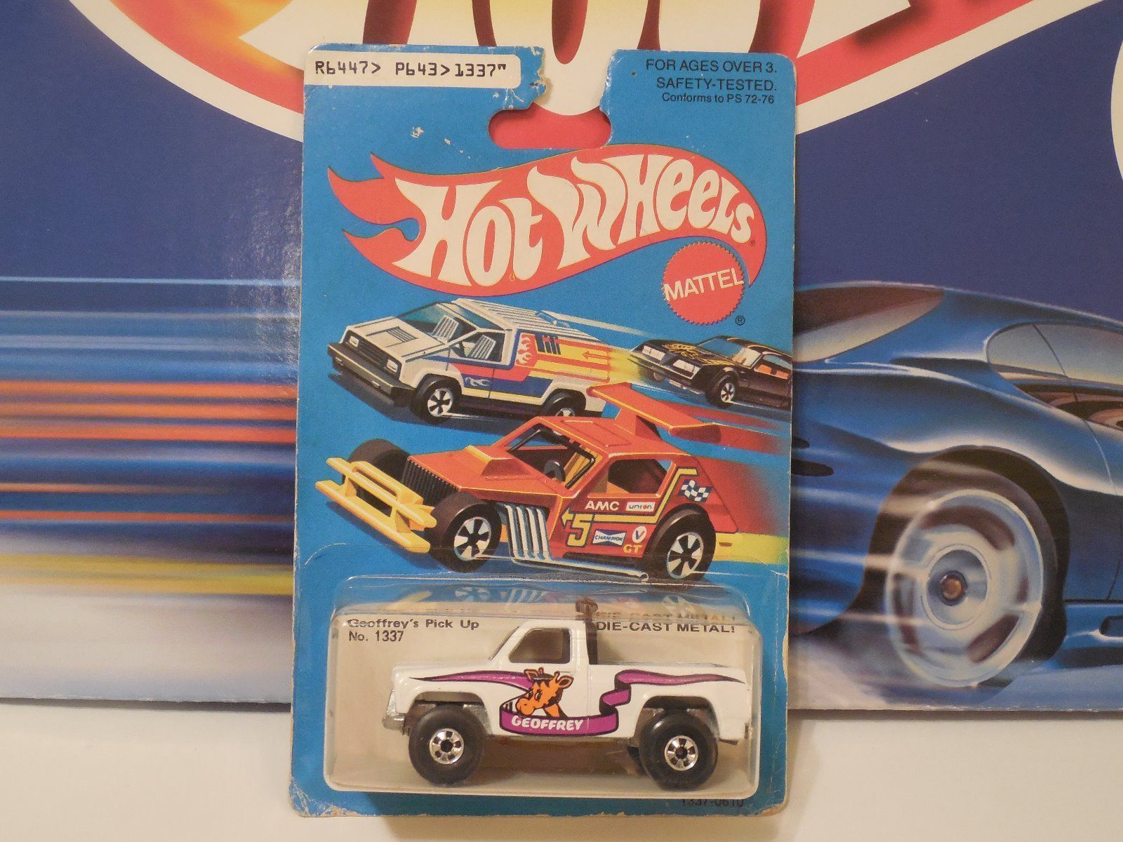 Hot Wheels Toys R Us Bywayman Geoffrey S Pick Up Bw Gremlin Card