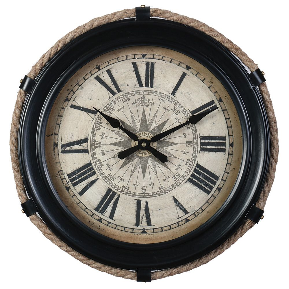 Compass Clock Small Black Compass Clock Clock Wall Decor Large