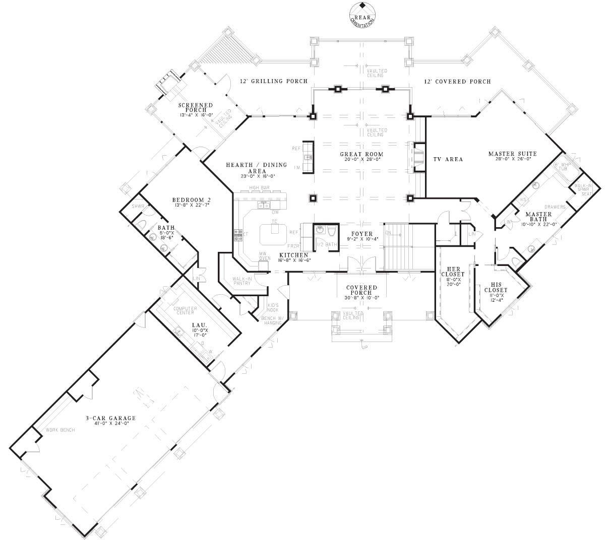 Luxury master bedroom floor plans  First Floor image of The Summit House Plan  house plans  Pinterest